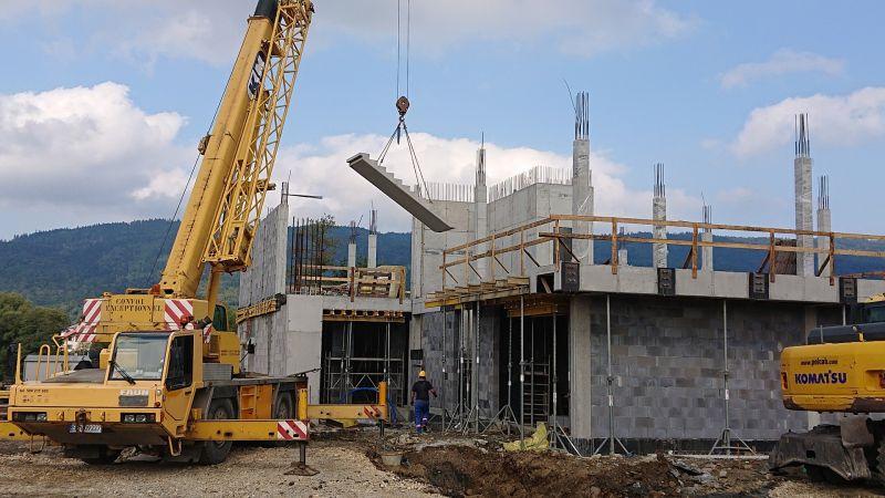 Budowa budynku usługowo-biurowego z częścią magazynową w Wilkowicach dla Techsystem -
