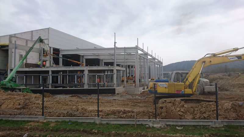 Budowa Centrum Logistycznego firmy PROSPERPLAST 1 Sp. z o.o. w Wilkowicach -