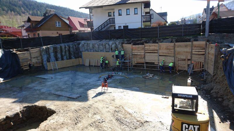 Budowa budynku usługowego - Apartamenty do wynajęcia w Szczyrku przy ul. Skośnej dla VACO Development Sp. z o.o. S.K. -