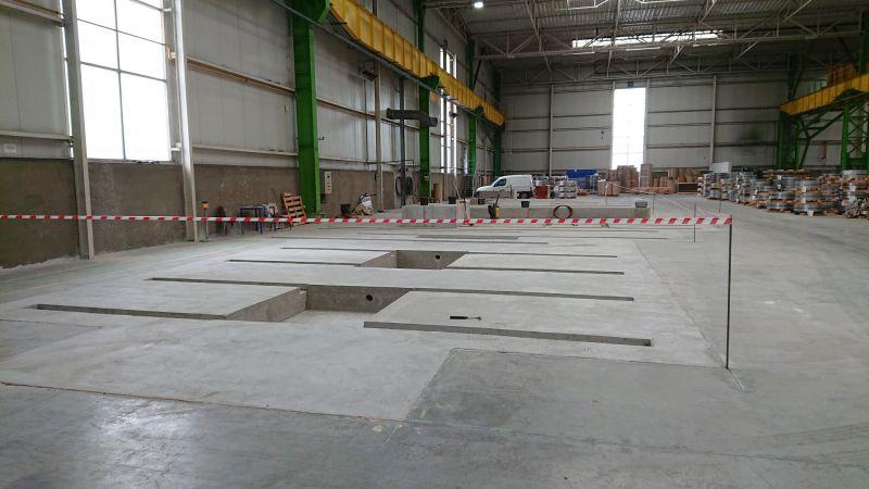 Wykonanie fundamentu pod maszynę dla Outokumpu Distribution Polska Sp. z o.o. w Dąbrowie Górniczej -