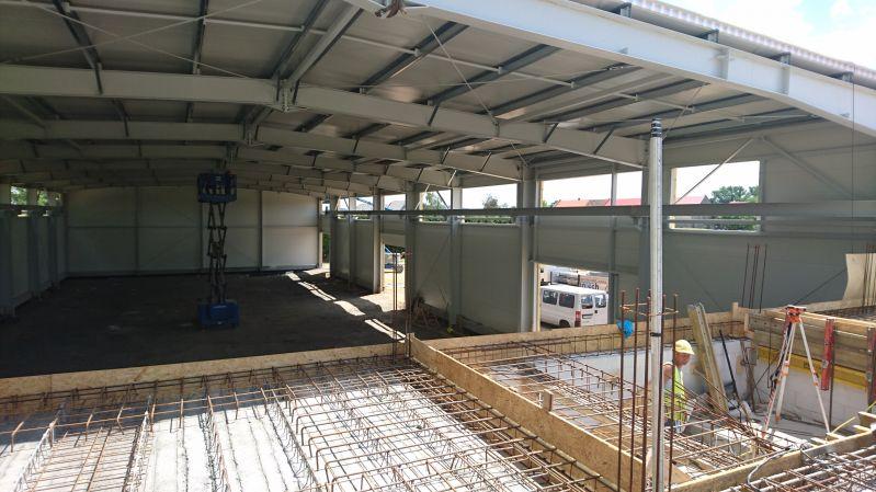 Budowa hali produkcyjno-magazynowej z częścią socjalna w Zębowicach AEP Rybicki, Zawada Sp. J. -